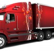 Christmas American semi-trucks — Stock Photo #37377293