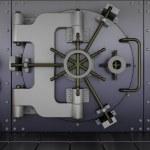 Robots guarding a bank vault — Stock Photo #37377631