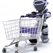 Robot shopping — Stock Photo #37377655