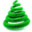 Stock Photo: Abstract furry christmas tree