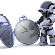 Robot with classic pocket watch — Stock Photo #37378109