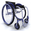 Stock Photo: Wheelchair isolated on white