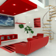 Stock Photo: Contemporary interior living space