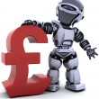 3d render of a robot with a pound symbol — Stock Photo