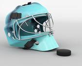 冰上曲棍球设备 — 图库照片