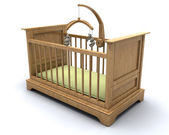 Cot for baby — Stock Photo