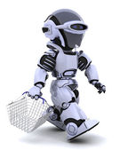 Roboter einkaufen — Stockfoto