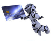 Cute robot cyborg — Stock Photo