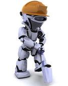Konstrukcja robota z pik — Zdjęcie stockowe