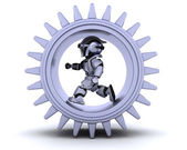 Robot with gear mechanism — Stock Photo