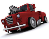 Charicature of supercharged 50's classic pickup truck — ストック写真