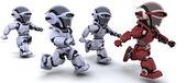 Robots running — Stock Photo