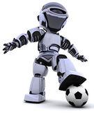 Robot jouant au soccer — Photo