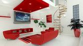 Contemporary interior living space — Stock fotografie