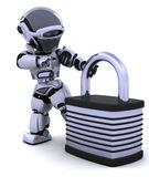 Robô com cadeado — Foto Stock
