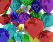 Multi coloured balloons — Stock Photo
