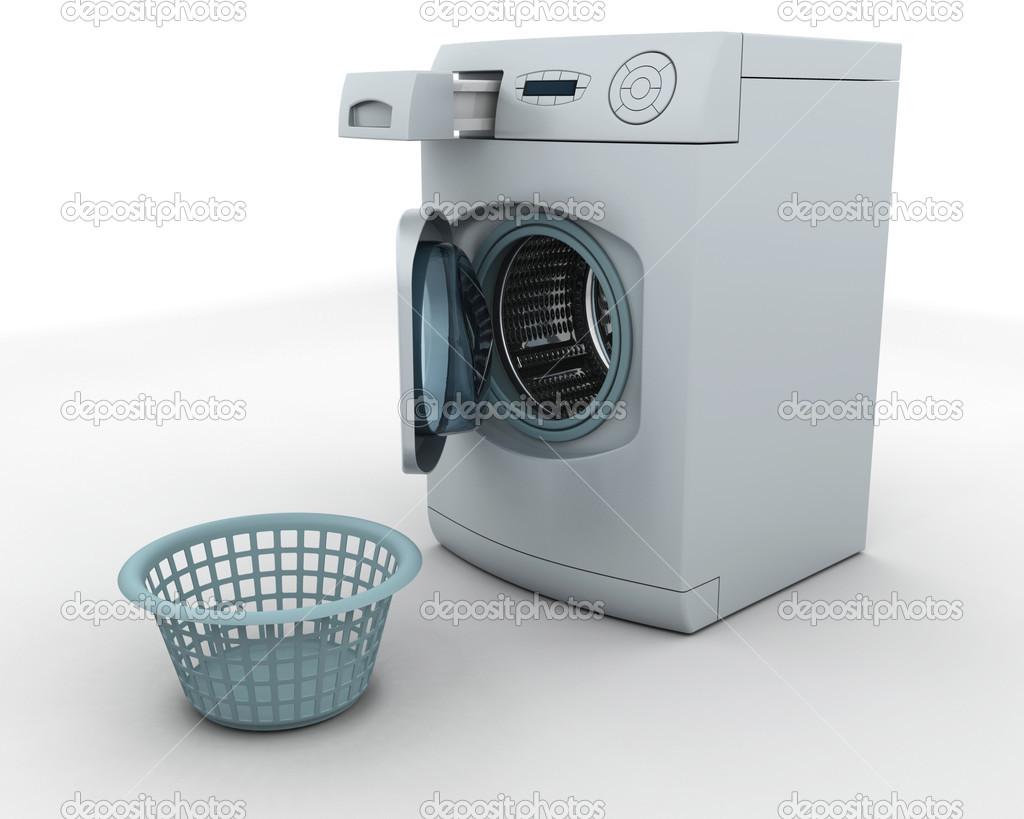 lavadora y cesta de lavadero foto stock kjpargeter 37377667. Black Bedroom Furniture Sets. Home Design Ideas