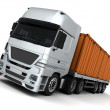 Stock Photo: Freight container Delivery Vehicle