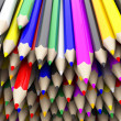 Coloured pencil crayons — Stock Photo