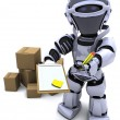 Robot with Shipping Boxes — Stock Photo #37740681