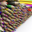 Stock Photo: Coloured pencil crayons