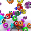 Stock Photo: A set of colouored bingo balls