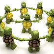 Tortoise leading team — Stock Photo #37741237