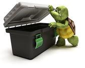 Tortoise with tool box — ストック写真