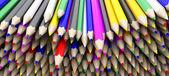 Coloured pencil crayons — Stock Photo