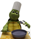 Tortoise Caricature as a Chef — Stock Photo