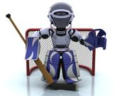 Robot playing icehockey — Stock Photo