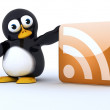 Glossy Penguin Character — Stock Photo