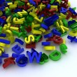 Stock Photo: Pile of plastic letters