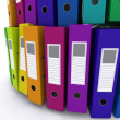 Colourful folders — Stock Photo
