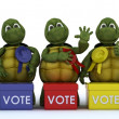 Tortoises canvasing for votes in election — Stock Photo #37855403