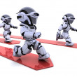 Robots leading race — Stock Photo #37855527