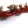 Robot withsleigh and reindeer — Stock Photo #37855705