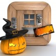 Stock Photo: Trick or Treat Jack o lantern