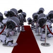 Robot Paparazzi at the red carpet — Foto Stock