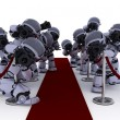 Robot Paparazzi at the red carpet — Stock Photo