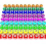 A set of colouored bingo balls — Stock Photo #37856363