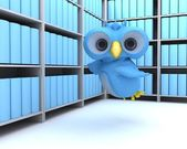 Cute Blue Bird Character — Stock Photo