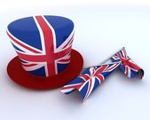 Union Jack Jubilee Hat and Flag — Stock Photo