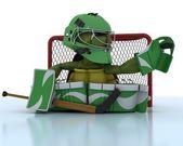 Żółw gra hokej na lodzie — Zdjęcie stockowe