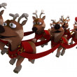 Robot withsleigh and reindeer — Stock Photo #38134187