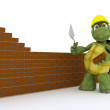 Stock Photo: Tortoise building contractor