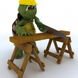 Stock Photo: Tortoise carpenter contractor