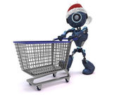 Android Christmas Shopping — Stock Photo