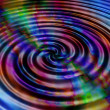 Stock Photo: Rainbow ripples