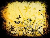 çiçekli grunge — Stok fotoğraf